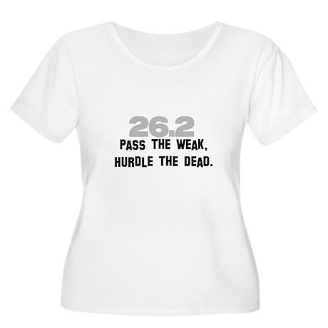 26.2 Pass the Weak FUNNY Women's Plus Size Scoop N