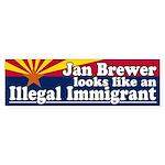 Jan Brewer Illegal Immigrant Bumper Sticker