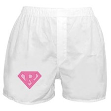Super Pink R Logo Boxer Shorts