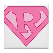 Super Pink R Logo Tile Coaster