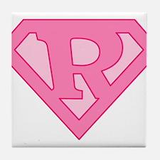 Super Pink R Logo Tile Coaster