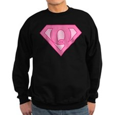 Super Pink Q Logo Sweatshirt
