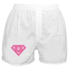Super Pink Q Logo Boxer Shorts