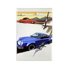 Porsche A series to the 911 Rectangle Magnet