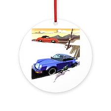 Porsche A series to the 911 Ornament (Round)