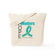 HopeMatters TealRibbon Tote Bag