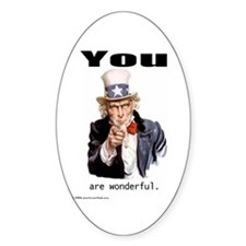 You are wonderful Oval Decal