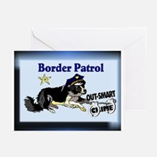 Border Collie Gifts-Pun Inten Greeting Cards (Pack