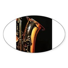 Sax Oval Decal