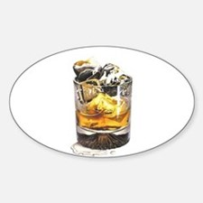 On the Rocks Oval Decal