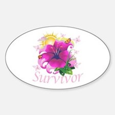 Survivor Flower Sticker (Oval)
