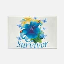 Survivor Flower Rectangle Magnet