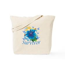 Survivor Flower Tote Bag