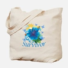 Survivor Flower Tote Bag