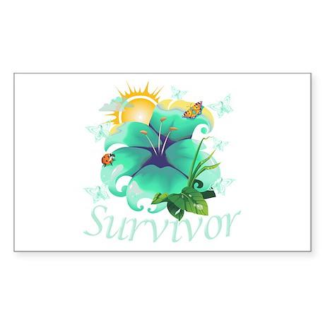 Survivor Flower Sticker (Rectangle)