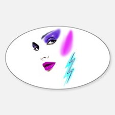 Face & Earring Oval Decal