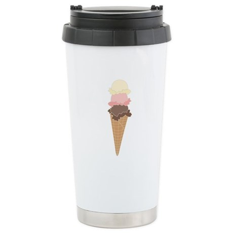 3 Scoops Stainless Steel Travel Mug