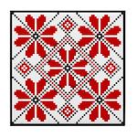 Folk Design 6 Tile Coaster