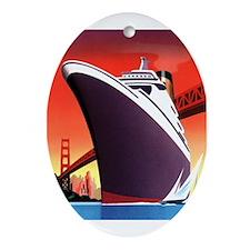Ship Oval Ornament
