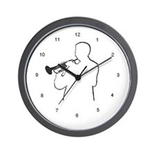Cornet Man Wall Clock
