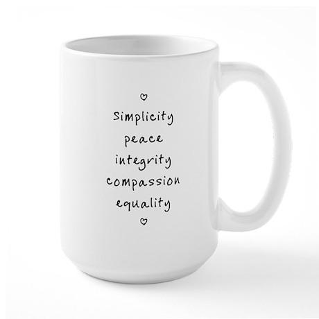 Quaker Testimonies Large Mug