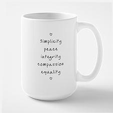 Quaker Testimonies Mug