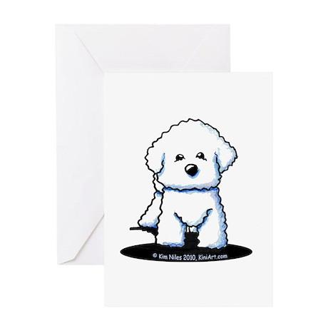 Bichon Frise II Greeting Card