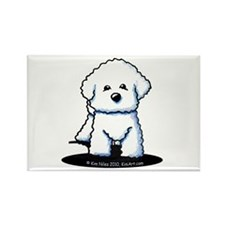 Bichon Frise II Rectangle Magnet (100 pack)