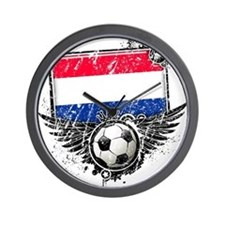 Soccer Fan Netherlands Wall Clock