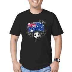 Soccer Fan Australia Men's Fitted T-Shirt (dark)