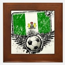 Soccer Fan Nigeria Framed Tile
