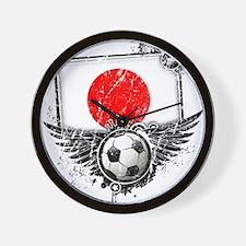 Soccer Fan Japan Wall Clock