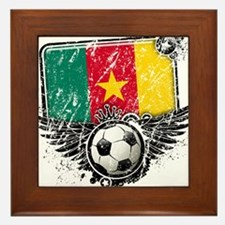 Soccer Fan Cameroon Framed Tile