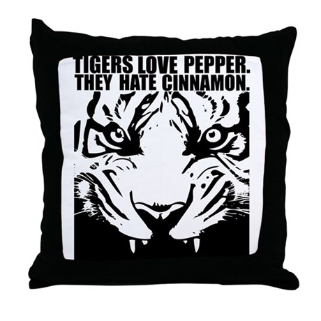 Tigers Love Pepper Throw Pillow