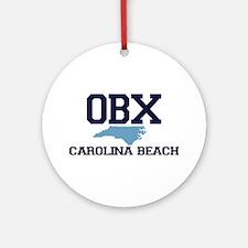 Carolina Beach NC - Map Design Ornament (Round)