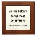 Napoleon on Victory Framed Tile