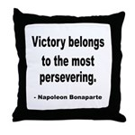 Napoleon on Victory Throw Pillow