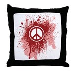 Bloody Peace Throw Pillow