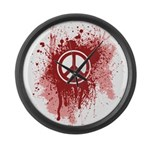 Bloody Peace Large Wall Clock