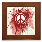Bloody Peace Framed Tile
