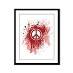 Bloody Peace Framed Panel Print