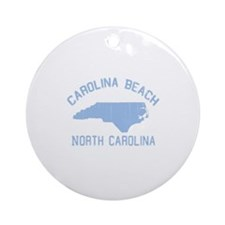 Carolina Beach NC - Map Design Ornament (Round)