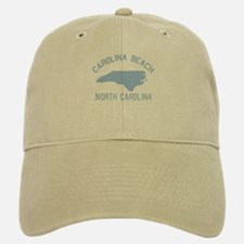 Carolina Beach NC - Map Design Baseball Baseball Cap