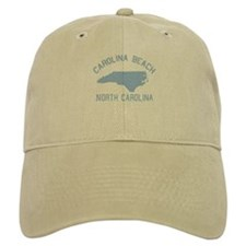 Carolina Beach NC - Map Design Baseball Cap