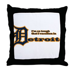I Vacation In Detroit Throw Pillow
