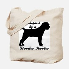 ADOPTED by Border Terrier Tote Bag