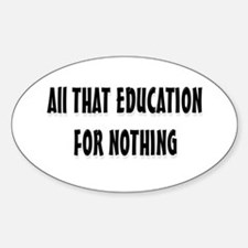 Education Oval Decal