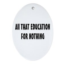 Education  Oval Ornament