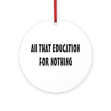Education Ornament (Round)