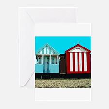 Beach Hut 1 Greeting Cards (Pk of 10)